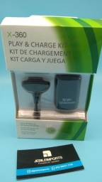 Kit cabo e bateria controle xbox 360//só hoje entrega grátis
