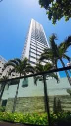 Título do anúncio: EC-Apartamento 03 quartos, mobiliado, andar alto, 50m do mar, 02 vagas, com lazer