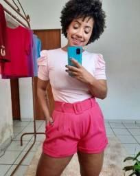 Título do anúncio: Shorts  cintura alta  alfaiataria