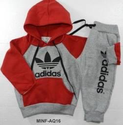 Título do anúncio: Conjunto de moletom infantil Adidas