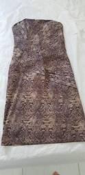 Vestido de Festa Tomara-que-caia (altura do joelho) P - Animal Print (Mikas Collection)