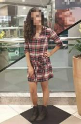 Vestido xadrez Clock N 36