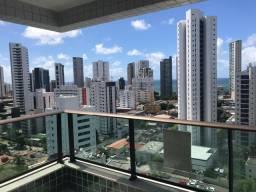 SIM| Apartamento com 04 suítes, 137m², andar alto, vista mar a 400m da praia em Boa Viagem