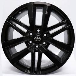 Título do anúncio: Jogo Roda Krmai R72 (Toyota Hilux) Aro 22x8,5 Preta6x139 Et 40 Usada