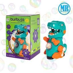 Título do anúncio: Dinossauro que anda, toca música e solta bolhas, perfeito para sua criança favorita <br><br>