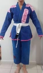 Kimono feminino A2 Keiko azul Quimono