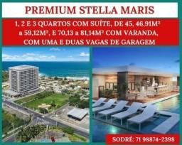 Título do anúncio: Stella Maris - Apartamento 1/4 com suíte, varanda e uma vaga deslumbrante