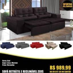 Título do anúncio: Corre que tá acabando: sofá retratil e reclinavel Zeus R$ 989,99