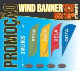 Promoção - WindBanner 3 Metros - Qualquer modelo - R$319,99