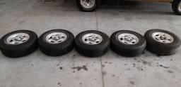 Vendo troco jogo de rodas aro 15 com pneus f1000 f-1000