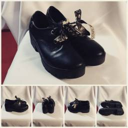Título do anúncio: sapato oxford quiz preto, tamanho 39