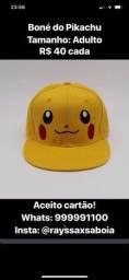Título do anúncio: Boné do Pikachu Adulto