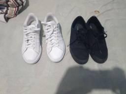 Título do anúncio: Adidas todo branco e All Star todo preto(unissex)