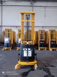 Paleteira Semi-Elétrica CHL | 1.500KG | Torre Duplex de 3 metros