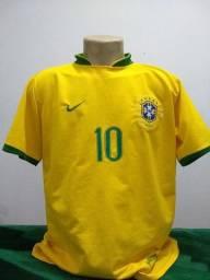 Camisa da Seleção do Brasil 2006 Nike #10 Ronaldinho