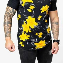 Camisa masculina long line