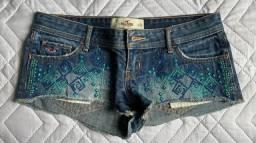 Shorts jeans tam P Abercrombie, Hollister e Aeropostale