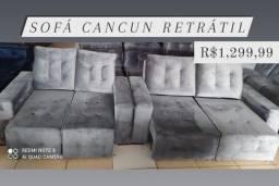 Título do anúncio: JOGO DE SOFÁ RETRÁTIL 2/3 LUGARES NOVO