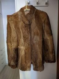 Casaco de Pele de Coelho Polo Norte Original + Bolsa