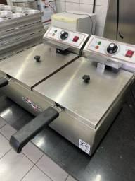 Título do anúncio: Fritadeira Skymsen 5l + escorredor de fritura