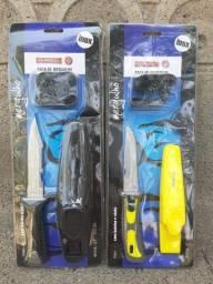 Kit 2 facas de Mergulho Mundial Novas e lacradas. Campimg acampamento trekking.