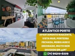 Título do anúncio: Atlântico Porto, cobertura duplex, nascente, vista mar, 1 quarto e 2 vagas na Pituba