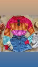 Blusa tricô outono inverno