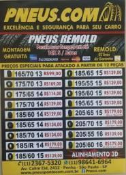 Qualidade é na Pneus**, Remold 185/65 14 à partir de R$134,00 em até 10x s/ juros!
