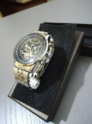 390a4b8410e Relógio Masculino Prateado Forsining