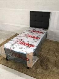 Box solteiro molejo + cabeceira solteiro Hadassa