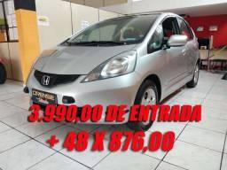 Honda Fit LxL 1.4 + couro - 2010