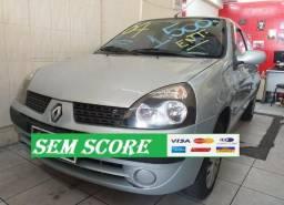 Renault clio hatch 2004 financiamento com score baixo baixa entrada