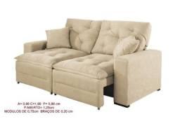 Sofa retratil/ reclinavel Paris larg= 1,90m *Faça seu pedido *Receba rapido!