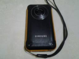 Filmadora e camera full hd sansung hmx-w-300 shock+waterproof