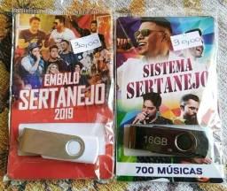 Pen drive 16 GB com 700 músicas R$ 30,00