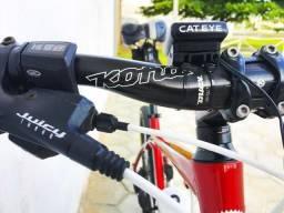 Bicicleta Kona Cindercone, SLX, Rockshox, hidráulica