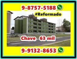 R$ 63.000 Brasil 2 Apartamento pronto para morar Todo Reformado 63 mil