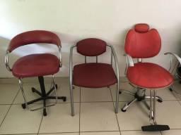 Cadeira e lavatório salão
