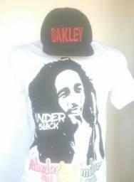 T-shirt(UNDER BLACK) & Snapback (OAKLEY)