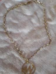 Cordão de prata banhado a ouro