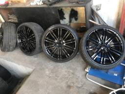 Vendo 5 rodas aro 20 com pneus 5x112