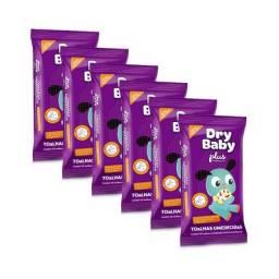 Toalhas Umedecidas Dry Baby Plus - Fardo com 6 Pacotes
