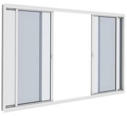 Vitro correr 150x100 SG Aluminio com Vidro Direto da Fabrica