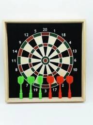 Jogo De Dardo Magnético Com Moldura Dupla Face 6 Dardos