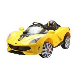 Carro Esporte Luxo com Controle Remoto 12V Amarelo usado