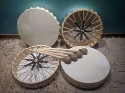 Tambor Xamânico Lakota 35cm - Pele de Cabra