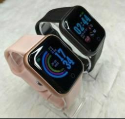 Relógio Smartwatch D20 / Y68. + esponja facial massageadora.. esporte Promoção fim de ano