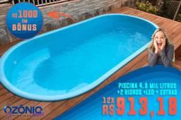Promoção de piscina na linha cobertura