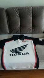 Camisa polo Cbr 600 racing e boné bordado da Honda, tamanho P