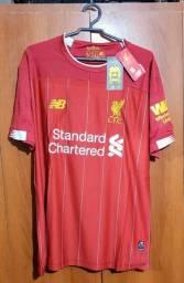 Camisa new balance Liverpool de jogo,2020,edição limitada,tamanho p(confecção grande)